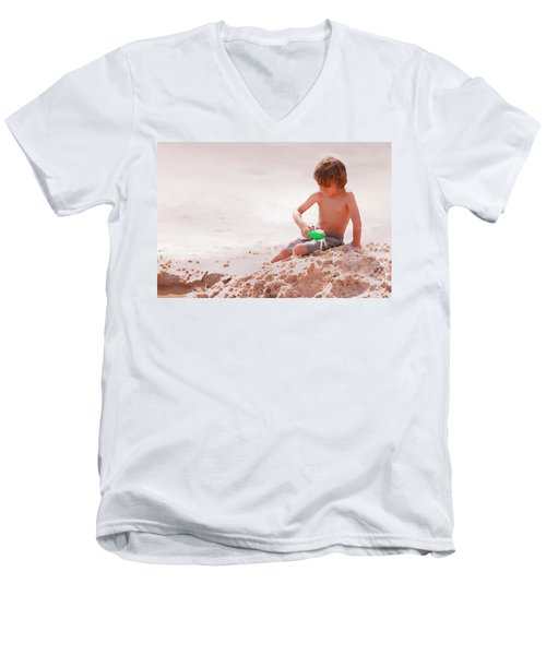 Men's V-Neck T-Shirt featuring the photograph Castlemaker by Alice Gipson