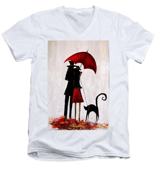 Cat 726 Men's V-Neck T-Shirt