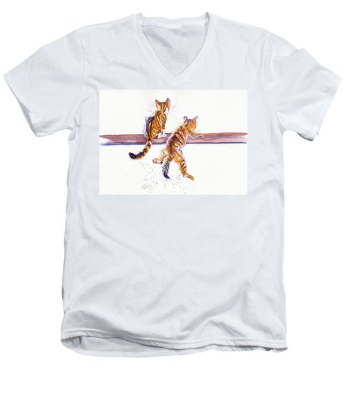 Cat-astrophe Men's V-Neck T-Shirt