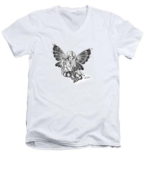 Cat Fairy  Men's V-Neck T-Shirt