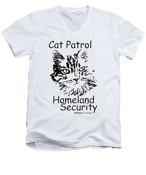 Cat Patrol Homeland Security Men's V-Neck T-Shirt