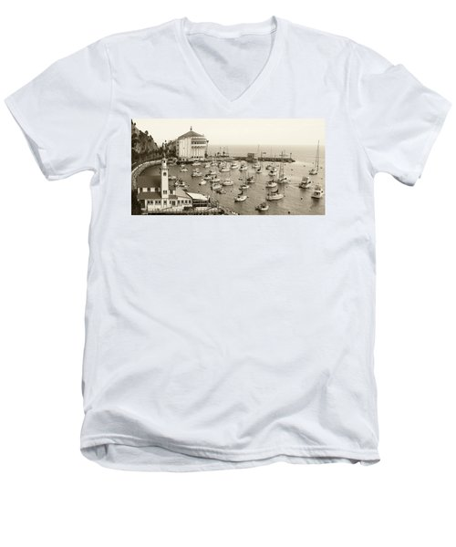 Catalina Island. Avalon Men's V-Neck T-Shirt by Ben and Raisa Gertsberg