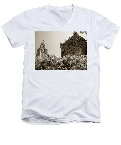 Cathedral Of Seville Men's V-Neck T-Shirt