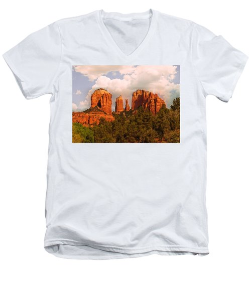 Cathedral Rock Sunset Men's V-Neck T-Shirt