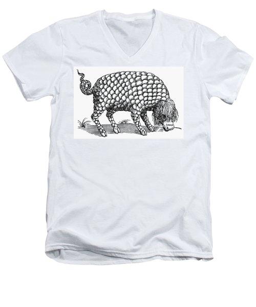Catoblepas Monster, 1658 Men's V-Neck T-Shirt