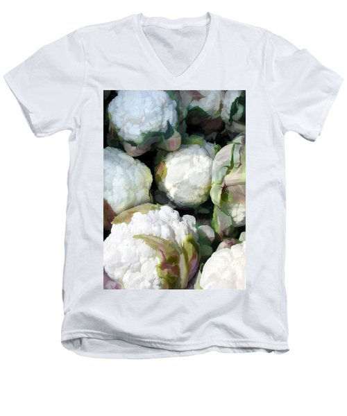 Cauliflower Bouquet Men's V-Neck T-Shirt by Elaine Plesser
