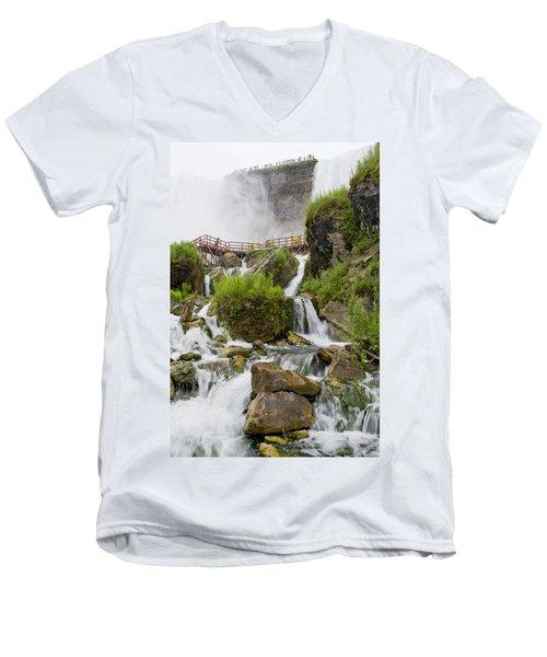 Cave Of The Winds At Niagara Falls Men's V-Neck T-Shirt