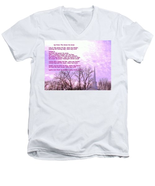 Celebrating The Resurrection Men's V-Neck T-Shirt