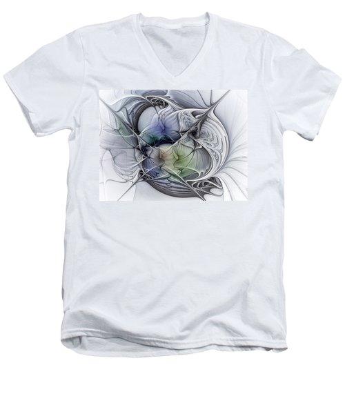 Celestial Sphere Abstract Art Men's V-Neck T-Shirt