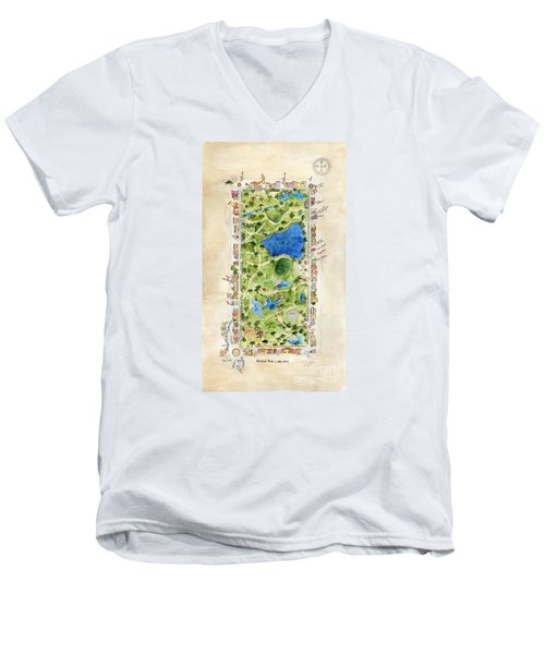 Central Park And All That Surrounds It Men's V-Neck T-Shirt by AFineLyne
