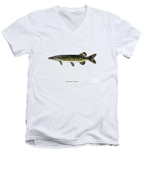 Chain Pickerel Men's V-Neck T-Shirt