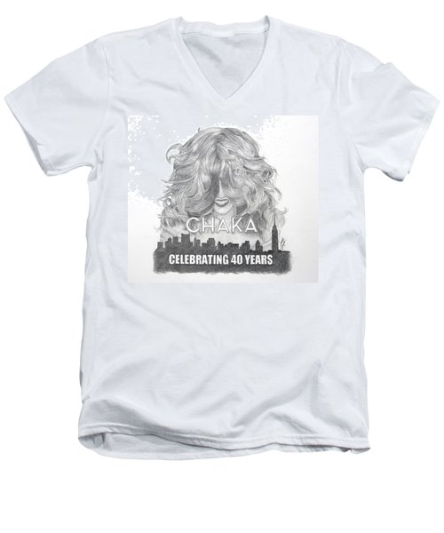 Chaka 40 Years Men's V-Neck T-Shirt