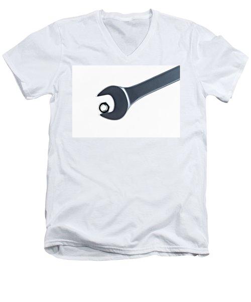 Men's V-Neck T-Shirt featuring the photograph Challenge by Gert Lavsen