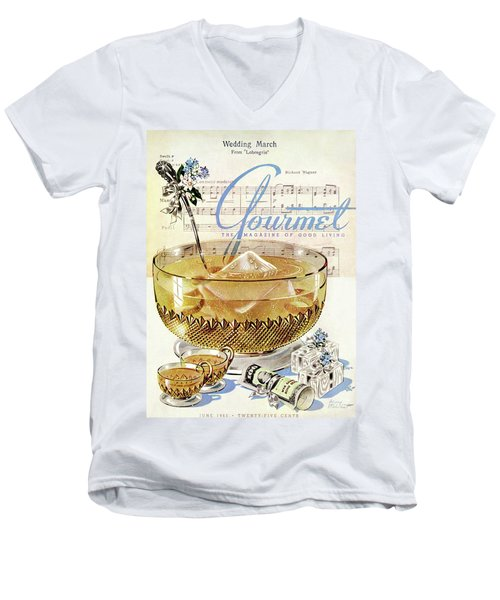 Champagne Punch And The Wedding March Men's V-Neck T-Shirt