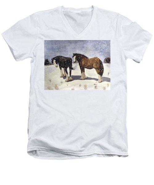 Chance Of Flurries Men's V-Neck T-Shirt
