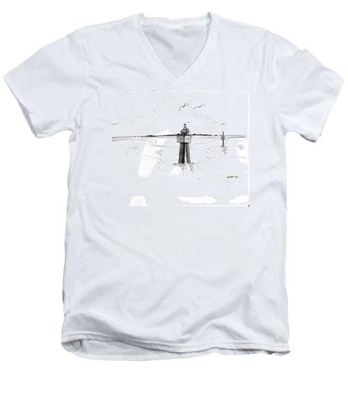 Channel Markers Ocracoke Inlet Men's V-Neck T-Shirt