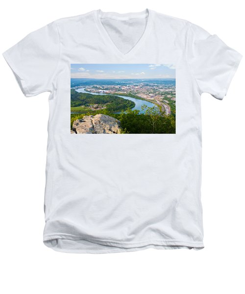 Chattanooga Spring Skyline Men's V-Neck T-Shirt