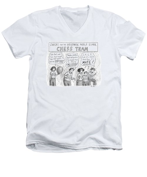 Cheers From The Hollyhock Middle School Chess Men's V-Neck T-Shirt