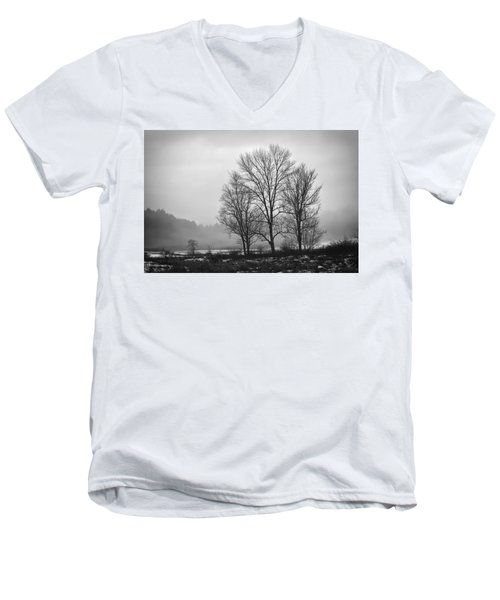 Cheese House Road Trees Men's V-Neck T-Shirt