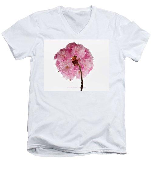 Cherry Globe Men's V-Neck T-Shirt by Sonali Gangane