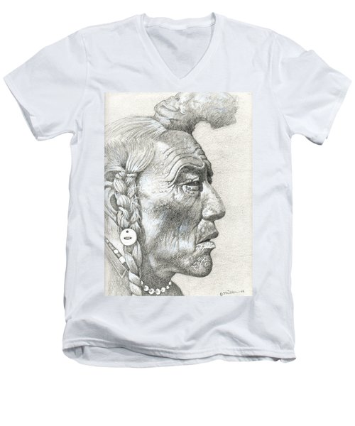 Cheyenne Medicine Man Men's V-Neck T-Shirt