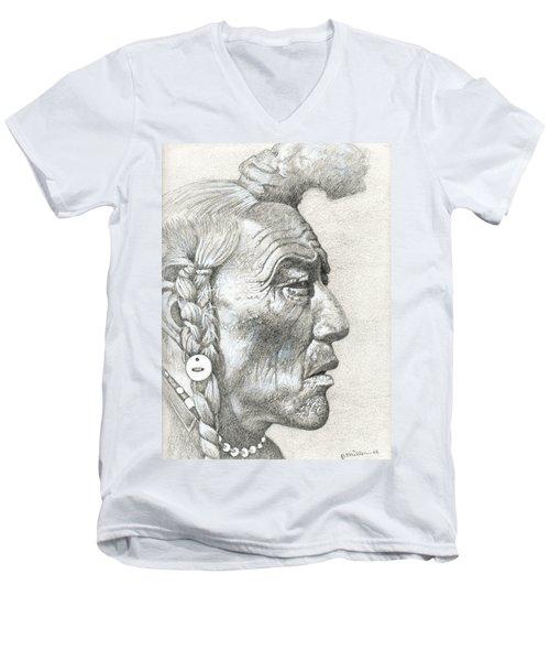 Bear Bull, Blackfoot Men's V-Neck T-Shirt