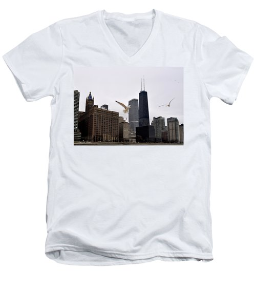 Chicago Birds 2 Men's V-Neck T-Shirt by Verana Stark