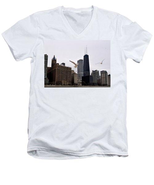 Chicago Birds 2 Men's V-Neck T-Shirt
