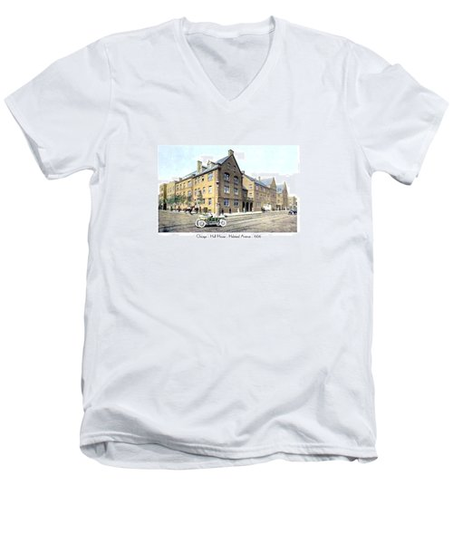 Chicago Illinois - Hull House - Halstead Avenue - 1906 Men's V-Neck T-Shirt