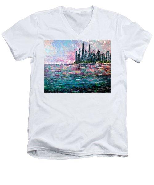 Chicago Morning - Sold Men's V-Neck T-Shirt