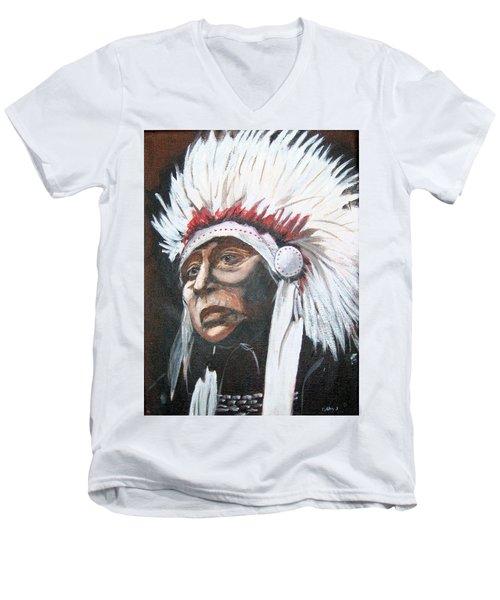 Chief Men's V-Neck T-Shirt by Catherine Swerediuk