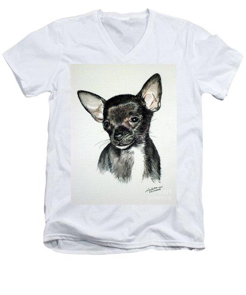 Chihuahua Black 2 Men's V-Neck T-Shirt