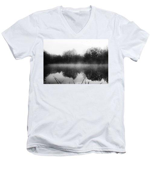 Chilly Morning Reflections Men's V-Neck T-Shirt