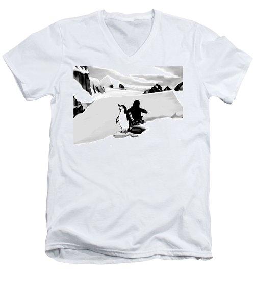 Chin Strap Penguins Men's V-Neck T-Shirt