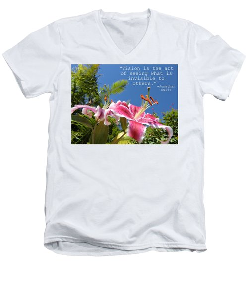 Choose Your Quote Choose Your Picture 19 Men's V-Neck T-Shirt