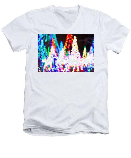 Christmas Lights Abstract Men's V-Neck T-Shirt