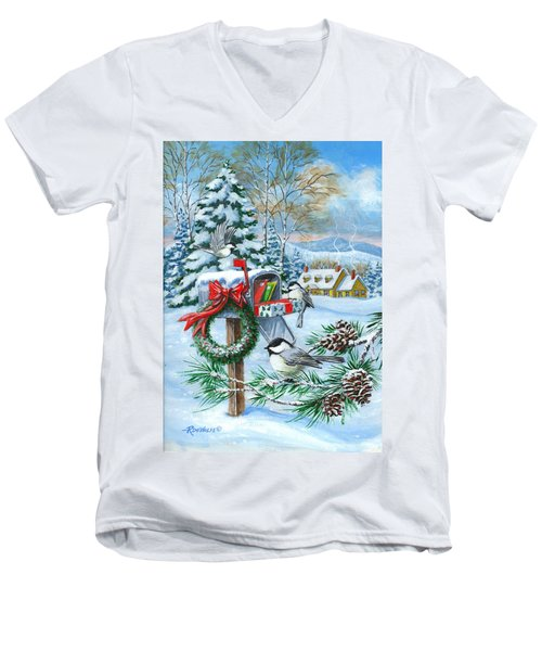 Christmas Mail Men's V-Neck T-Shirt
