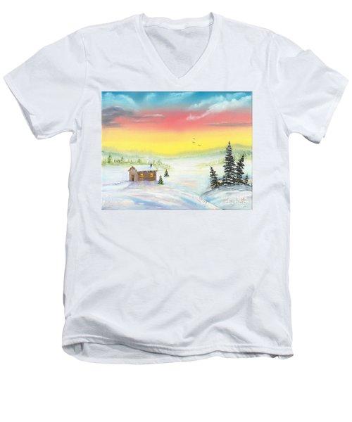 Christmas Morning Men's V-Neck T-Shirt