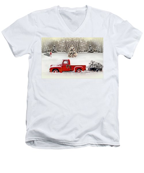 Christmas Trees Men's V-Neck T-Shirt