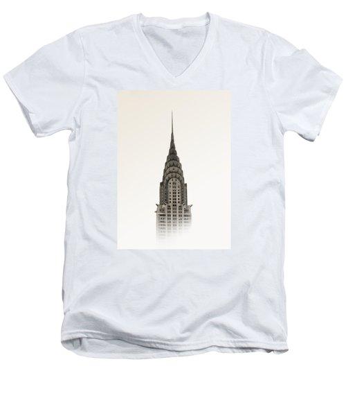 Chrysler Building - Nyc Men's V-Neck T-Shirt by Nicklas Gustafsson