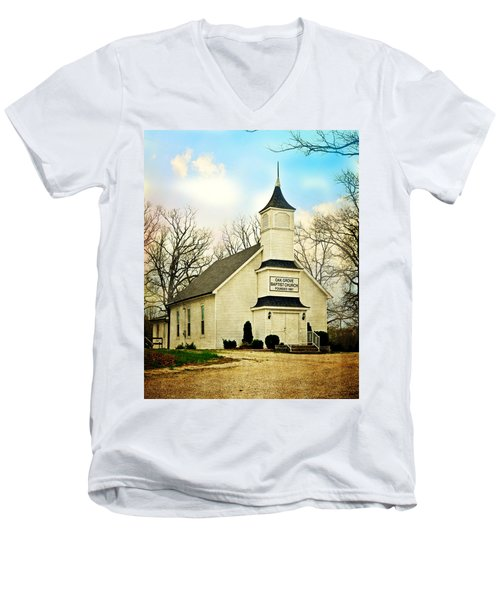 Men's V-Neck T-Shirt featuring the photograph Church 12 by Marty Koch