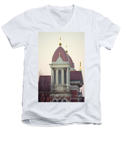 Church Of Gold Crosses Men's V-Neck T-Shirt