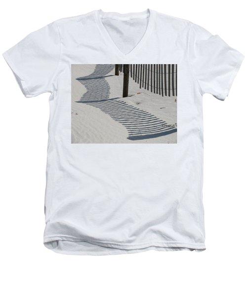 Circus Beach Fence Men's V-Neck T-Shirt
