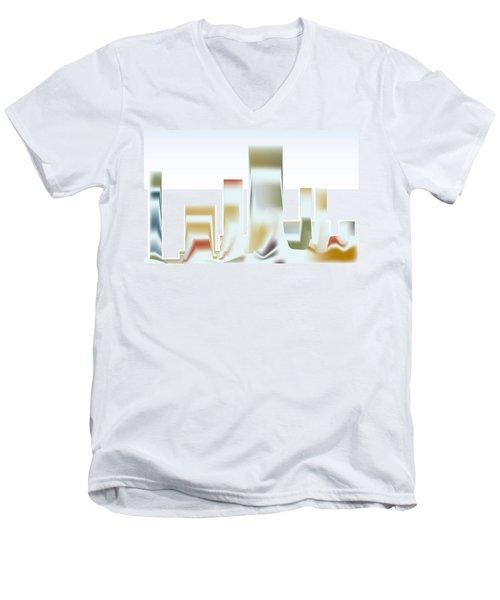 City Mesa Men's V-Neck T-Shirt by Kevin McLaughlin