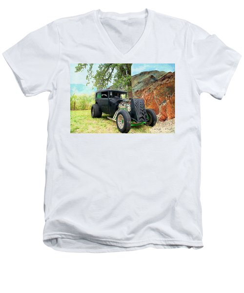 Men's V-Neck T-Shirt featuring the photograph Classic Rod by Liane Wright
