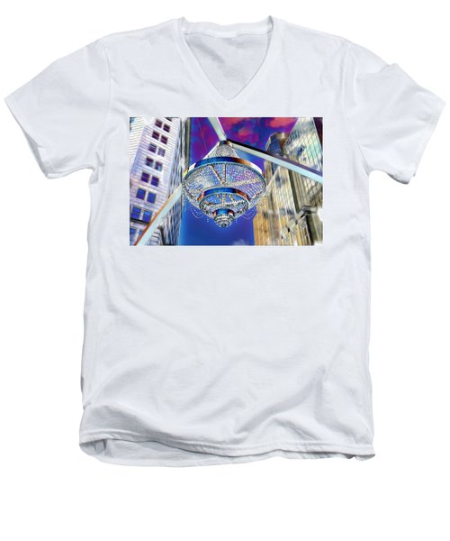 Cleveland Playhouse Square Outdoor Chandelier - 1 Men's V-Neck T-Shirt
