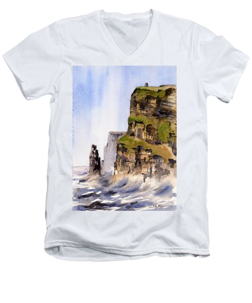 Clare   The Cliffs Of Moher   Men's V-Neck T-Shirt