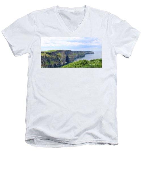 Cliffs Of Moher Panorama 3 Men's V-Neck T-Shirt