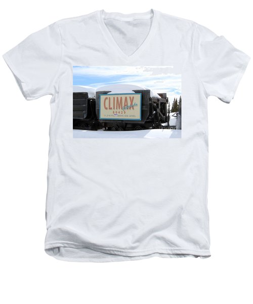Men's V-Neck T-Shirt featuring the photograph Climax Colorado by Fiona Kennard