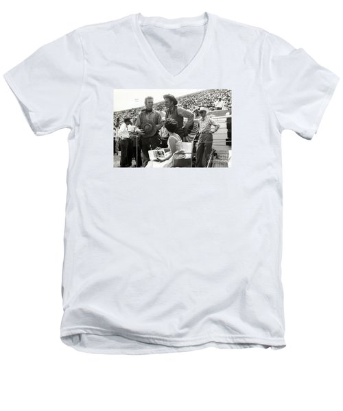 Clint Eastwood  Eric Fleming Characters Rowdy Yates Salinas California 1962 Men's V-Neck T-Shirt by California Views Mr Pat Hathaway Archives